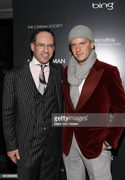 """Andrew Saffir and Daniel Benedict attend a screening of """"A Single Man"""" hosted by the Cinema Society and Tom Ford at The Museum of Modern Art on..."""