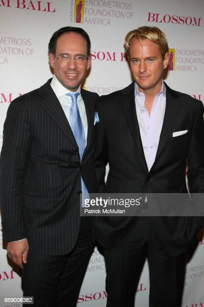 Andrew Saffir and Daniel Benedict attend The BLOSSOM BALL To Benefit The Endometriosis Foundation of America at The Prince George Ballroom on April...
