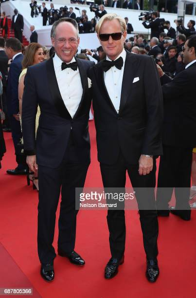 Andrew Saffir and Daniel Benedict attend the The Beguiled screening during the 70th annual Cannes Film Festival at Palais des Festivals on May 24...