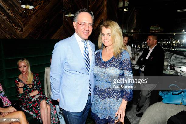 Andrew Saffir and Debbie Bancroft attend MarVista Entertainment And Parkside Pictures With The Cinema Society Host The After Party For 'The Year Of...