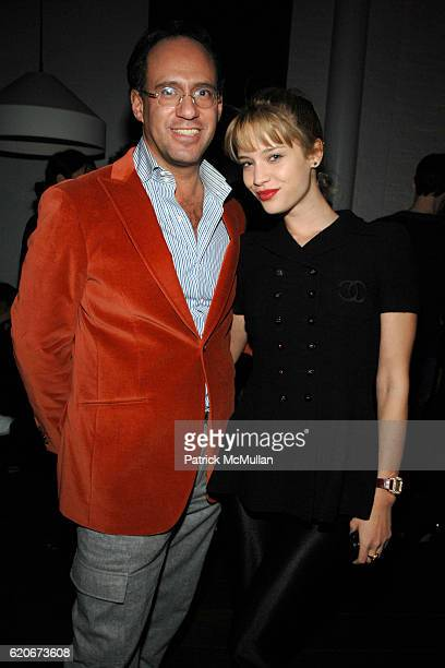 Andrew Saffir and Julie Ordon attend THE CINEMA SOCIETY and W host the after party for Sundance Channel's 'MARC JACOBS LOUIS VUITTON' at Mercer Hotel...