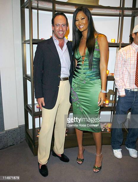 Andrew Saffir and Kimora Lee Simmons during Celebration of 4 Inches at The Cartier Mansion at The Cartier Mansion in New York City New York United...