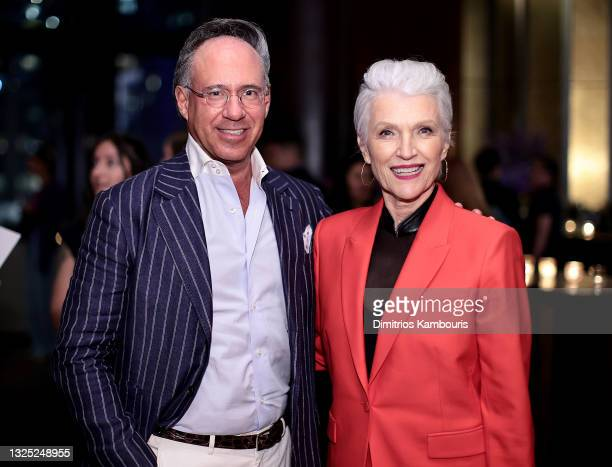 Andrew Saffir and Maye Musk attend 'Mary J Blige: My Life' premiere presented by Amazon Studios at Rose Theater at Jazz at Lincoln Center's Frederick...