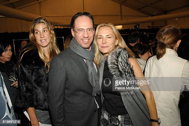 Andrew Saffir and Valesca Guerrand Hermes attend Dennis Basso Fall 2008 Fashion Show at The Tents on February 5 2008 in New York City