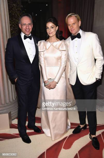 Andrew Saffir Ariana Rockefeller and Derek Blasberg attend the Heavenly Bodies Fashion The Catholic Imagination Costume Institute Gala at The...