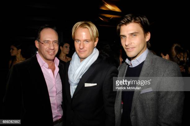 Andrew Saffir Daniel Benedict and Johannes Huebl attend SUSAN WOO FALL 2009 COLLECTION and LAUNCH PARTY at Above Allen on February 10 2009 in New...