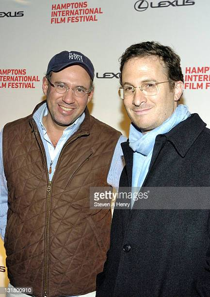 Andrew Saffir founder of the Cinema Society and director Darren Aronofsky attend the Black Swan Premiere during the 18th Annual Hamptons...