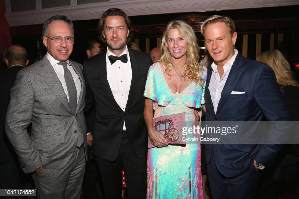 Andrew Saffir Joachim Bader Mary Snow and Daniel Benedict attend David Patrick Columbia And Chris Meigher Toast The QUEST 400 At DOUBLES on September...