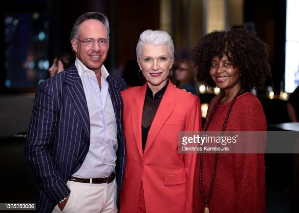 Andrew Saffir, Maye Musk and guest attend 'Mary J Blige: My Life' premiere presented by Amazon Studios at Rose Theater at Jazz at Lincoln Center's...