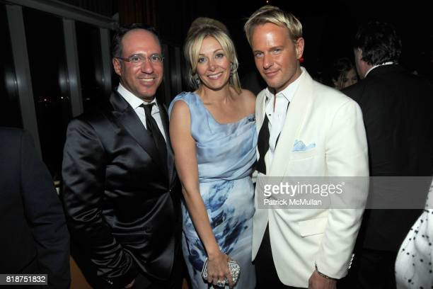 Andrew Saffir Nadja Swarovski and Daniel Benedict attend SWAROVSKI After Party for the 2010 CFDA Awards at The 18th Floor on June 7 2010 in New York...