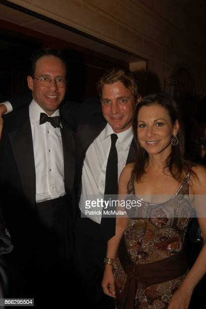 Andrew Saffir Sam Bolton and Bettina Zilkha attend Scott Currie's 40th Birthday Dinner at Doubles on September 20 2004 in New York City