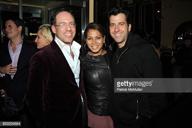 Andrew Saffir Simone Bent and Troy Garity attend THE CINEMA SOCIETY MICHAEL KORS host the after party for IRON MAN at The Odeon on April 28 2008 in...