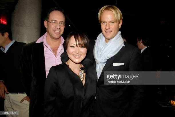 Andrew Saffir Susan Woo and Daniel Benedict attend SUSAN WOO FALL 2009 COLLECTION and LAUNCH PARTY at Above Allen on February 10 2009 in New York City