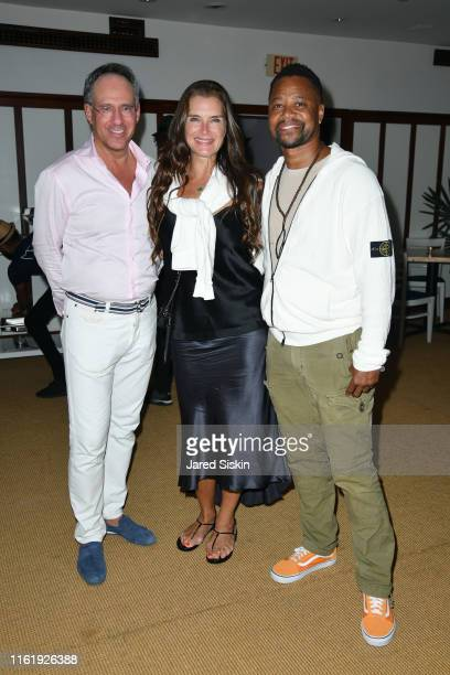 Andrew Safir Brooke Shields and Cuba Gooding Jr attend Sony Pictures Classics The Cinema Society Host A Hamptons After Party For David Crosby...