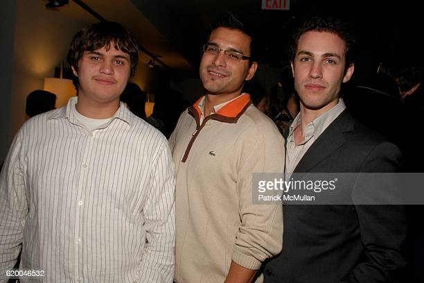 Andrew Sarmiento Louis Sarmiento and Robert Reus attend KolDesign and BoConcept's annual Holiday party at BoConcept on December 16 2008 in New York...