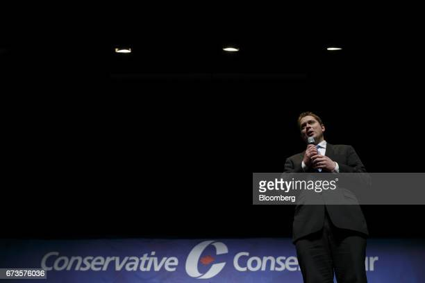 Andrew Scheer Member of Parliament and Conservative Party leader candidate speaks during the final Conservative Party of Canada leadership debate in...
