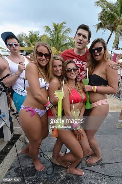 "Andrew Schulz attends mtvU Spring Break 2014 at the Grand Oasis Hotel on March 19 2014 in Cancun Mexico ""mtvU Spring Break starts airing March 31st..."