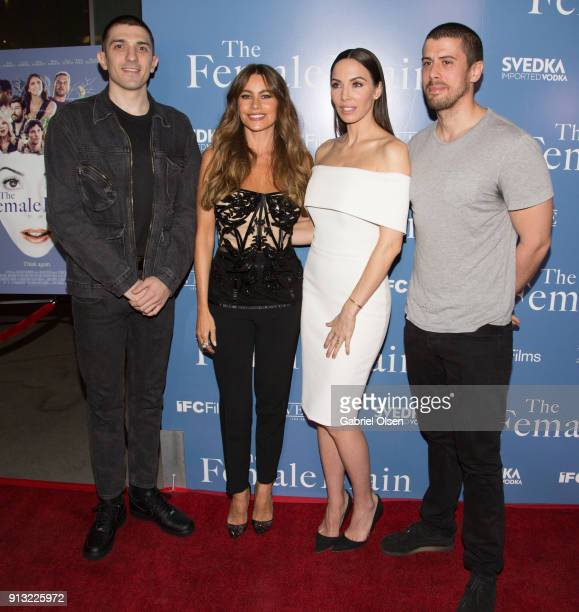 Andrew Schulz Sofia Vergara Whitney Cummings and Toby Kebbell arrive for the premiere of IFC Films' 'The Female Brain' at ArcLight Hollywood on...