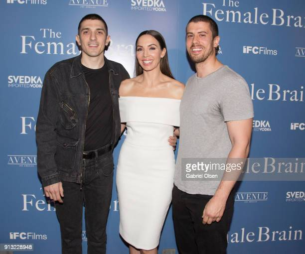Andrew Schulz Whitney Cummings and Toby Kebbell arrive for the premiere of IFC Films' The Female Brain at ArcLight Hollywood on February 1 2018 in...