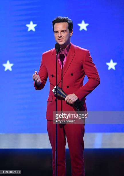 Andrew Scott accepts the Best Supporting Actor in a Comedy Series award for 'Fleabag' onstage during the 25th Annual Critics' Choice Awards at Barker...