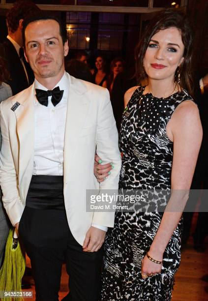Andrew Scott and Aisling Bea attend The Olivier Awards with Mastercard after party at the Natural History Museum on April 8 2018 in London England