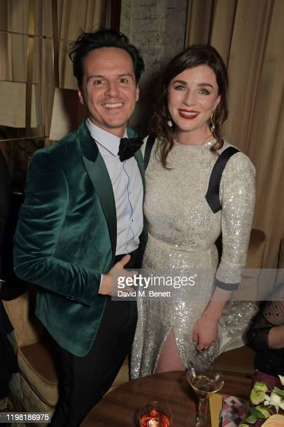 Andrew Scott and Aisling Bea pose the Netflix BAFTA after party at Chiltern Firehouse on February 2, 2020 in London, England.