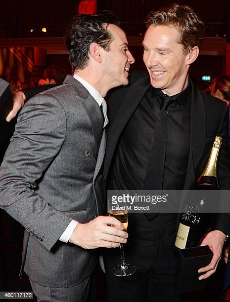 Andrew Scott and Benedict Cumberbatch attend an after party celebrating The Moet British Independent Film Awards 2014 at Old Billingsgate Market on...