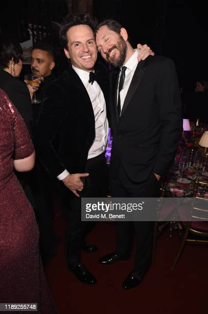 Andrew Scott and Bertie Carvel attend the after party of the 65th Evening Standard Theatre Awards In Association With Michael Kors at London Coliseum...