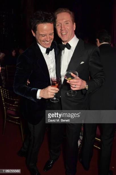 Andrew Scott and Damian Lewis attend the after party of the 65th Evening Standard Theatre Awards in association with Michael Kors at the London...