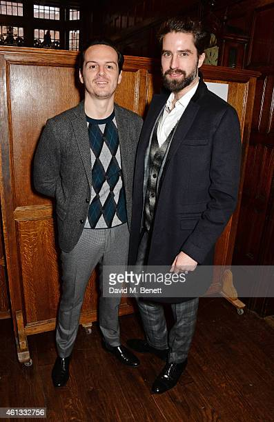 Andrew Scott and Jack Guinness attend the Pringe Of Scotland Autumn/Winter 2014 menswear runway show during London Collections Men at Middle Temple...