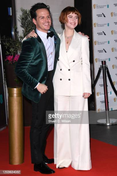 Andrew Scott and Jessie Buckley attend the EE British Academy Film Awards 2020 After Party at The Grosvenor House Hotel on February 02, 2020 in...