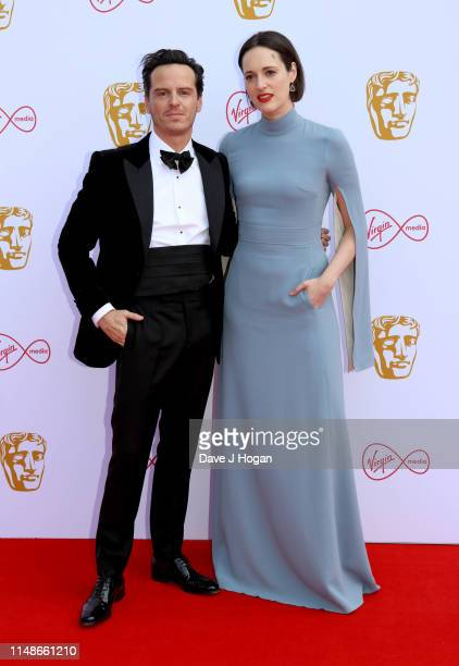Andrew Scott and Phoebe WallerBridge attend the Virgin Media British Academy Television Awards 2019 at The Royal Festival Hall on May 12 2019 in...