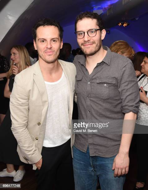Andrew Scott and Robert Icke attend the press night after party for The Almeida Theatre's Hamlet playing at the Harold Pinter Theatre on June 15 2017...