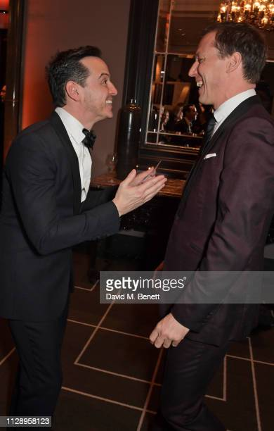 Andrew Scott and Tobias Menzies attend the BFI Chairman's Dinner honouring Olivia Colman with the BFI Fellowship at Rosewood London on March 6 2019...