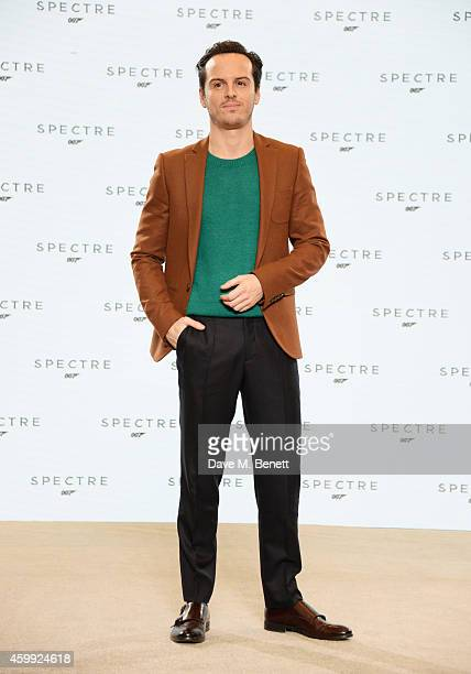 Andrew Scott attends a photocall with cast and filmmakers to mark the start of production which is due to commence on the 24th Bond Film and announce...