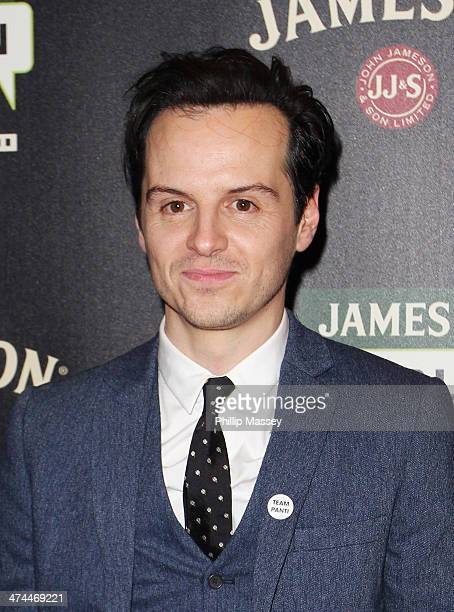 Andrew Scott attends a screening of 'The Stag' at the Jameson Dublin International Film Festival at Savoy on February 23 2014 in Dublin Ireland