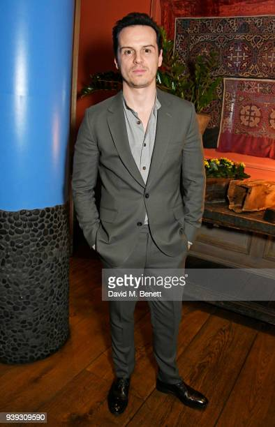 Andrew Scott attends a special screening of new BBC Two drama 'King Lear' at The Soho Hotel on March 28 2018 in London England