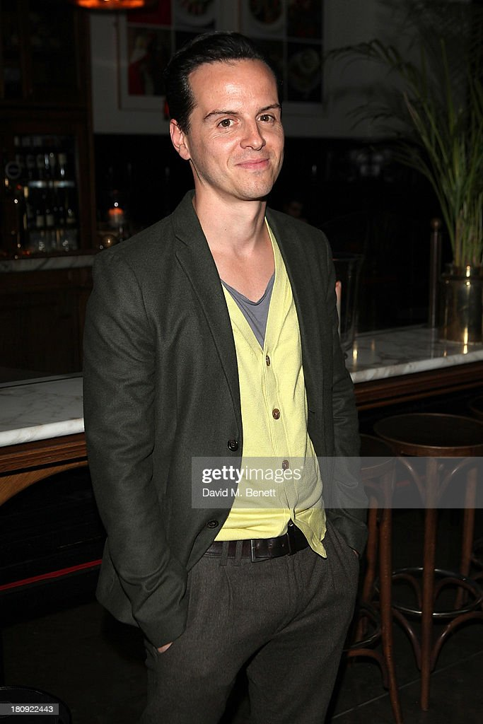 Andrew Scott attends an after party following the press night performance of 'A Midsummer Night's Dream' at The National Cafe on September 17, 2013 in London, England.