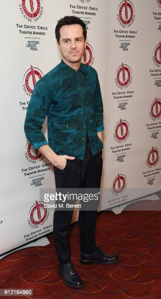 Andrew Scott attends The Critics' Circle Theatre Awards at The Prince of Wales Theatre on January 30 2018 in London England