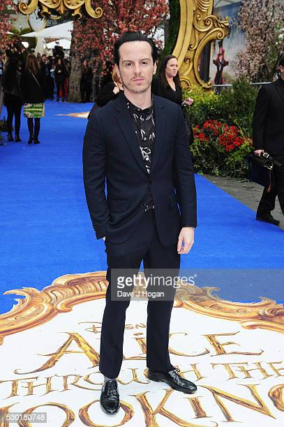 Andrew Scott attends the European Premiere of 'Alice Through The Looking Glass' at Odeon Leicester Square on May 10 2016 in London England
