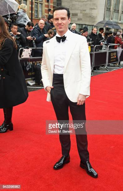 Andrew Scott attends The Olivier Awards with Mastercard at Royal Albert Hall on April 8 2018 in London England