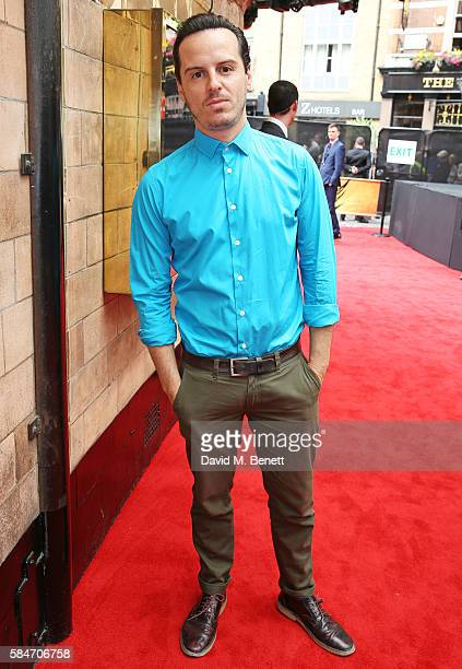 Andrew Scott attends the press preview of 'Harry Potter The Cursed Child' at The Palace Theatre on July 30 2016 in London England