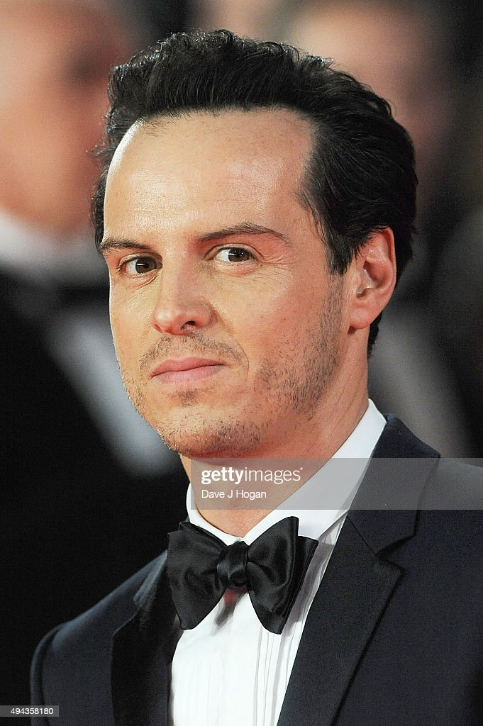 Andrew Scott attends the Royal World Premiere of 'Spectre' at Royal Albert Hall on October 26, 2015 in London, England.