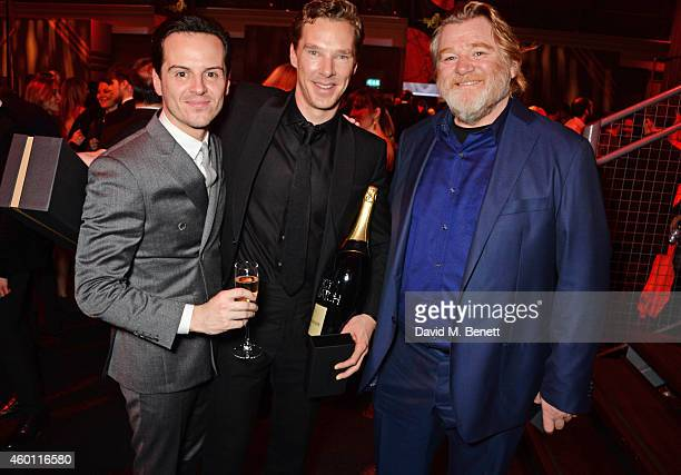 Andrew Scott Benedict Cumberbatch and Brendan Gleeson attend an after party celebrating The Moet British Independent Film Awards 2014 at Old...