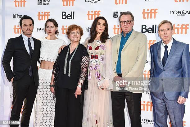 Andrew Scott Caren Pistorius Deborah Lipstadt Rachel Weisz Tom Wilkinson Timothy Spal attend the 'Denial' premiere during 2016 Toronto International...