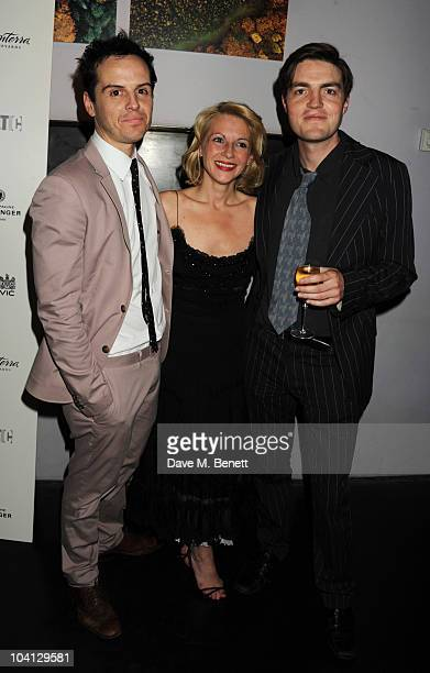 Andrew Scott Lisa Dillon and Tom Burke attend the afterparty following the press night of 'Design For Living' at Baltic on September 15 2010 in...