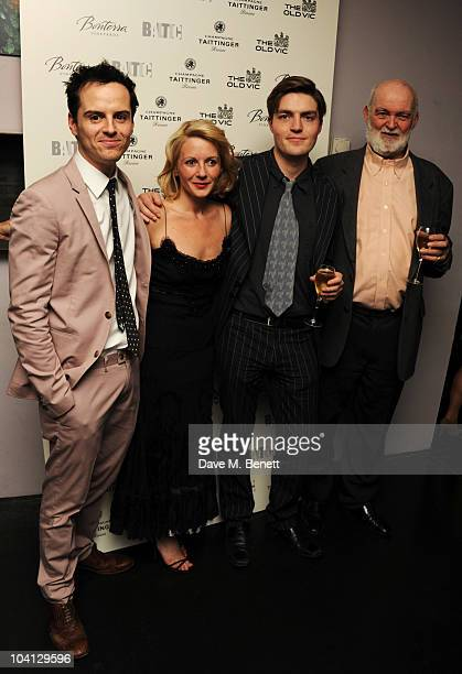 Andrew Scott Lisa Dillon Tom Burke and Anthony Page attend the afterparty following the press night of 'Design For Living' at Baltic on September 15...