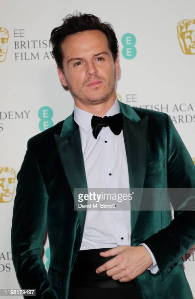 Andrew Scott poses in the Winners Room at the EE British Academy Film Awards 2020 at Royal Albert Hall on February 2, 2020 in London, England.