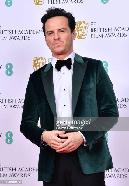 Andrew Scott poses in the Winners Room during the EE British Academy Film Awards 2020 at Royal Albert Hall on February 02, 2020 in London, England.