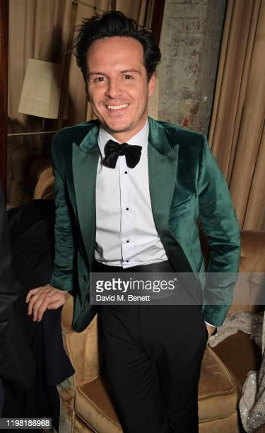 Andrew Scott poses the Netflix BAFTA after party at Chiltern Firehouse on February 2 2020 in London England
